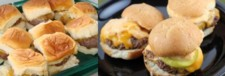 football food, Loco Cheese sliders