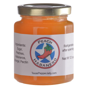 Peach Habanero Pepper Jelly gives a peach pie a real kick!