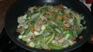 February's leftover vegetables - finally enough for stir-fry!