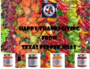 Thanksgiving greeting, holiday, Texas Pepper Jelly