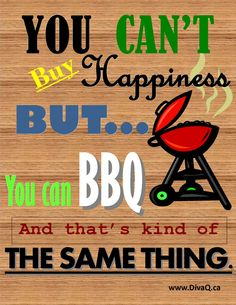 BBQ happiness poster