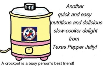 Texas Pepper Jelly, crockpot recipes