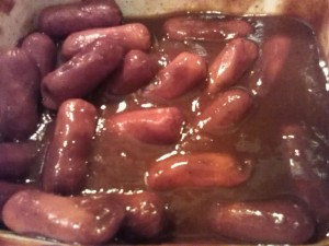 Sweet & sour cocktail sausages